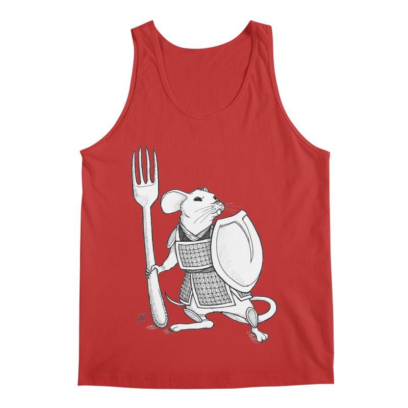 Warrior Mouse Men's Regular Tank by DEROSNEC's Art Shop