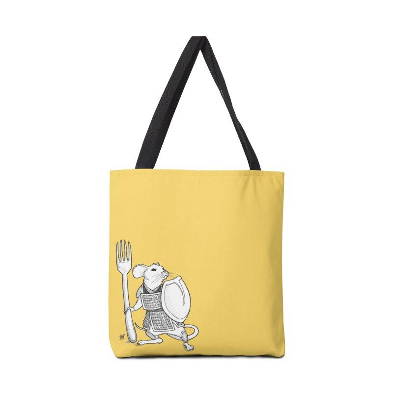 Warrior Mouse Accessories Tote Bag Bag by DEROSNEC's Art Shop
