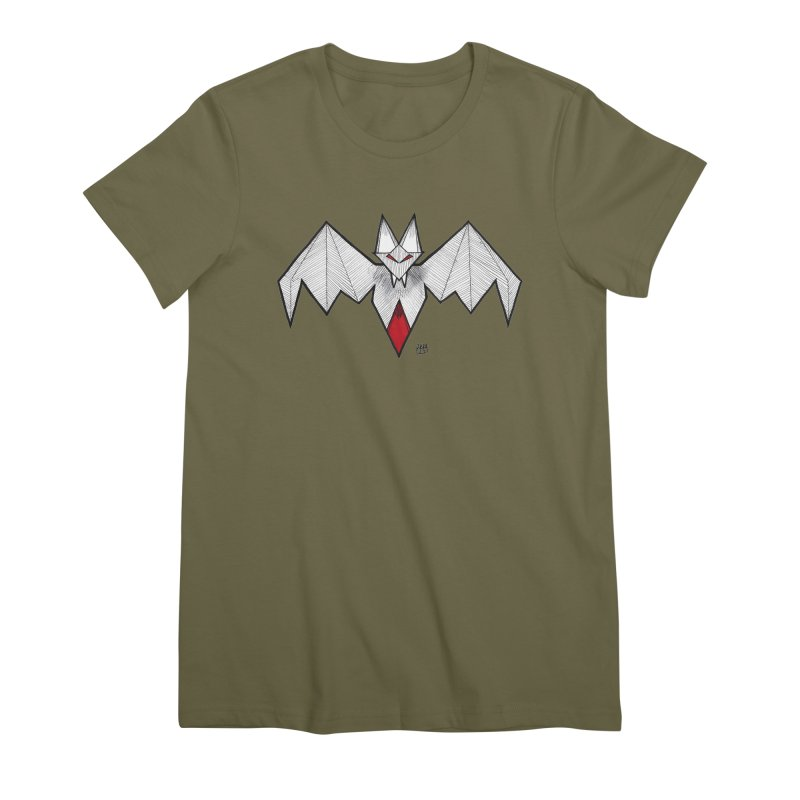 Angular Bat Women's Premium T-Shirt by DEROSNEC's Art Shop