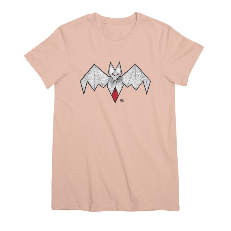 Angular Bat Women's Premium T-Shirt by DEROSNEC's Art Shop