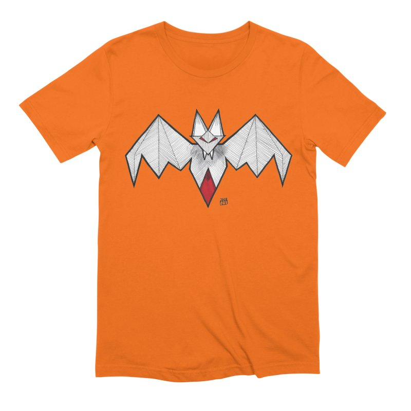 Angular Bat Men's Extra Soft T-Shirt by DEROSNEC's Art Shop