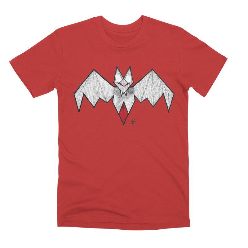 Angular Bat Men's Premium T-Shirt by DEROSNEC's Art Shop