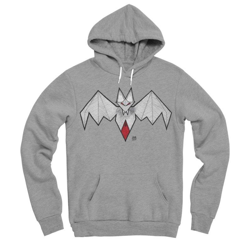Angular Bat Men's Sponge Fleece Pullover Hoody by DEROSNEC's Art Shop