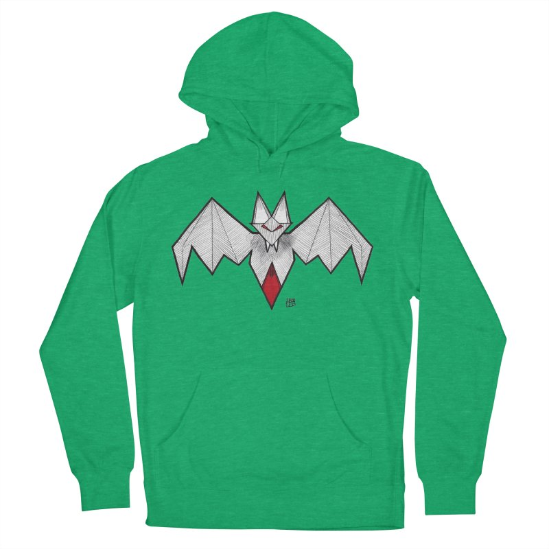 Angular Bat Women's French Terry Pullover Hoody by DEROSNEC's Art Shop