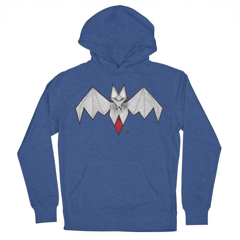 Angular Bat Men's French Terry Pullover Hoody by DEROSNEC's Art Shop