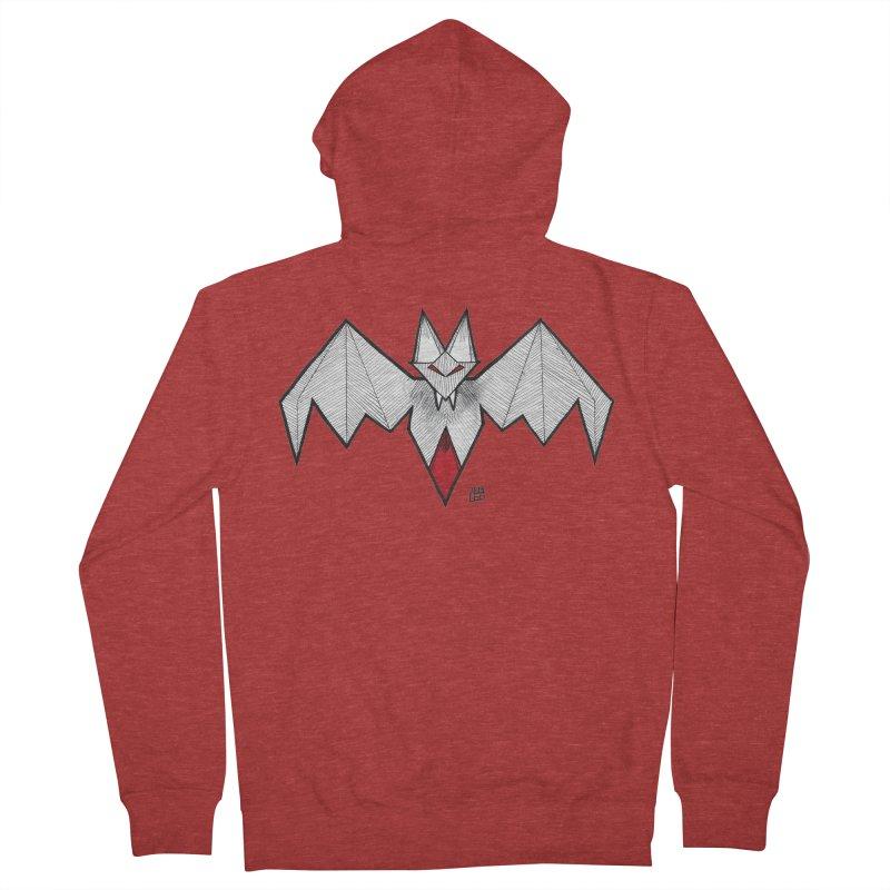 Angular Bat Men's French Terry Zip-Up Hoody by DEROSNEC's Art Shop