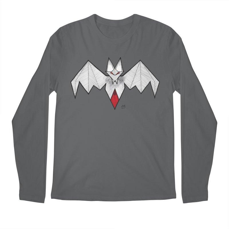 Angular Bat Men's Regular Longsleeve T-Shirt by DEROSNEC's Art Shop