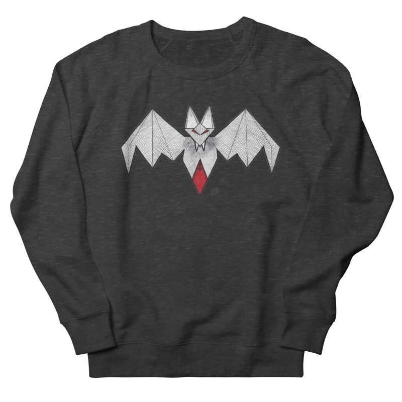 Angular Bat Women's French Terry Sweatshirt by DEROSNEC's Art Shop