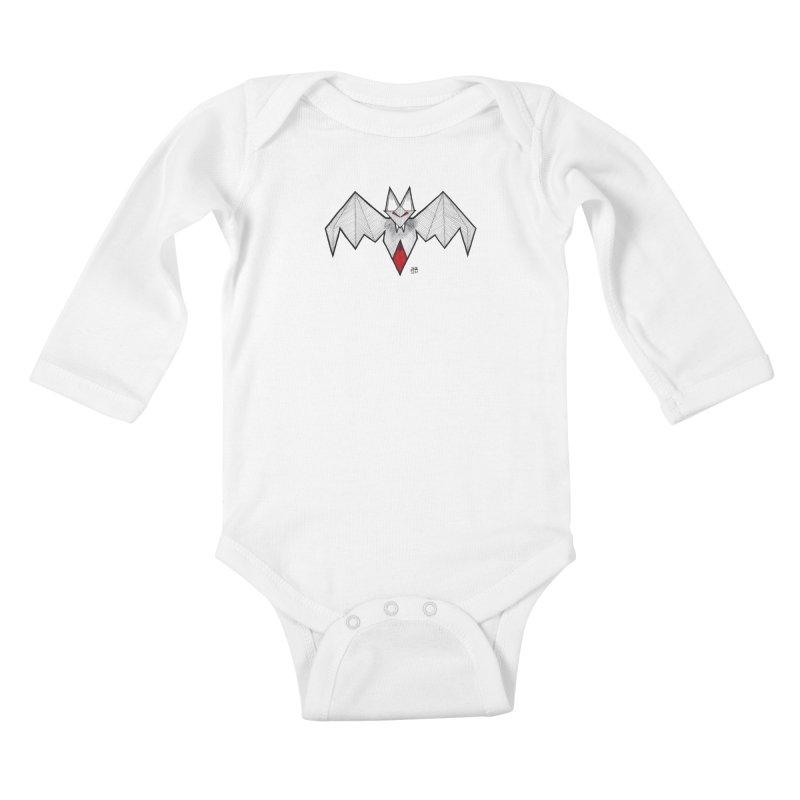 Angular Bat Kids Baby Longsleeve Bodysuit by DEROSNEC's Art Shop