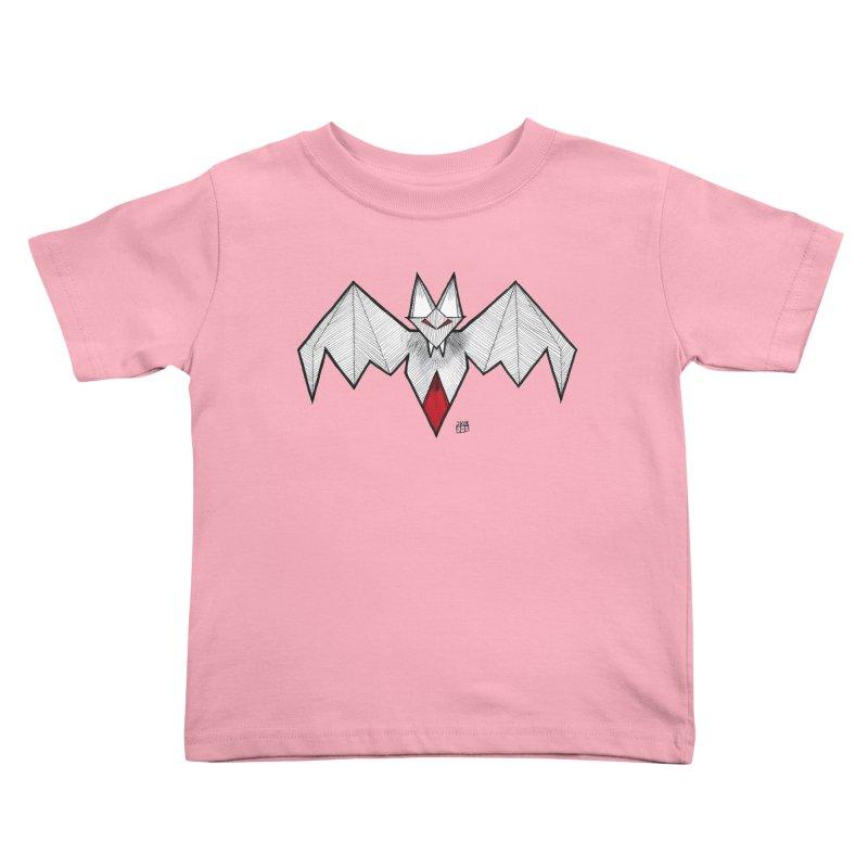 Angular Bat Kids Toddler T-Shirt by DEROSNEC's Art Shop