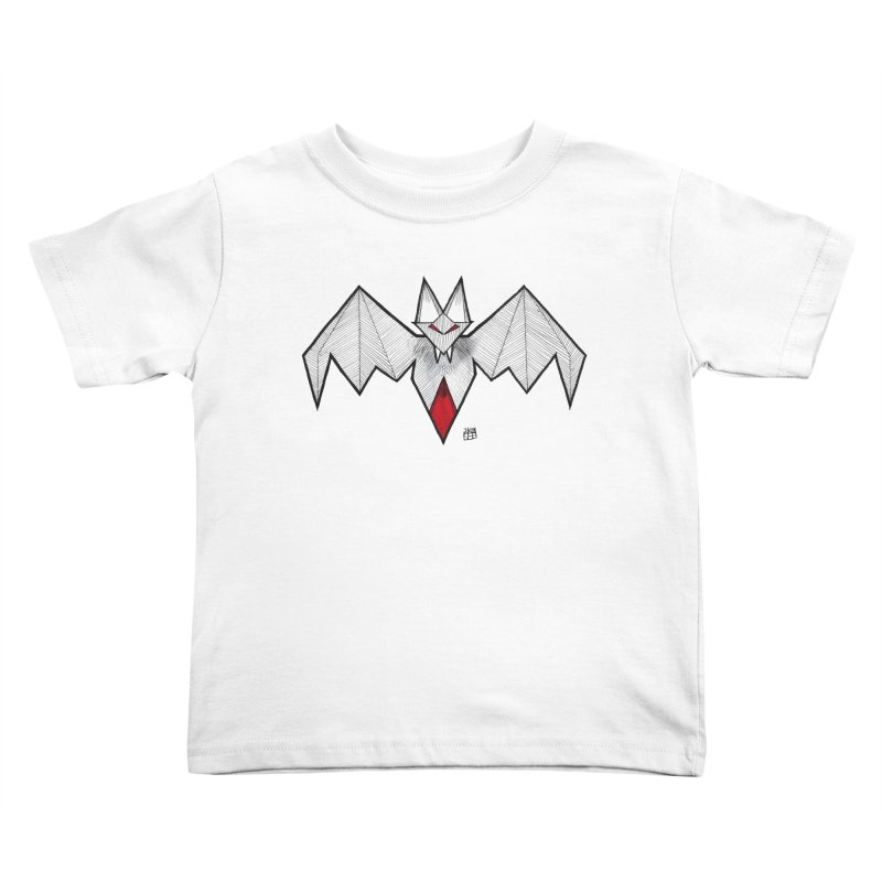 Angular Bat Kids Toddler T-Shirt by DEROSNEC's Art Shop