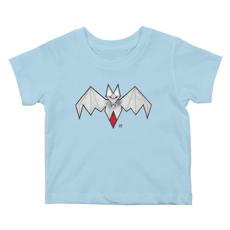 Angular Bat Kids Baby T-Shirt by DEROSNEC's Art Shop