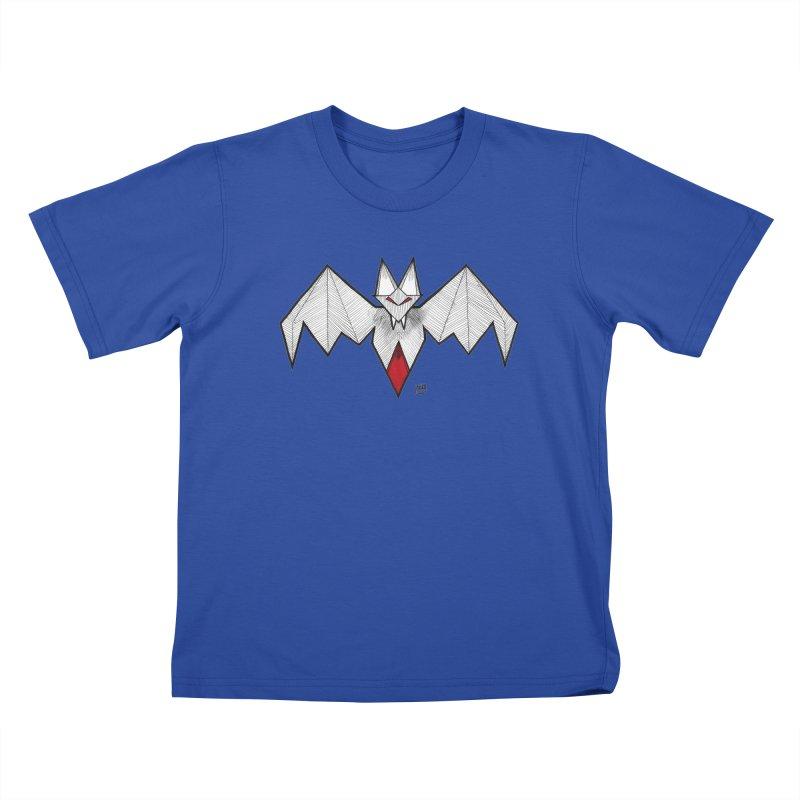 Angular Bat Kids T-Shirt by DEROSNEC's Art Shop