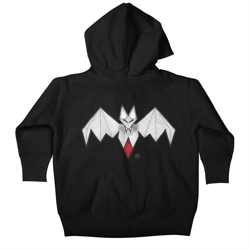 Angular Bat Kids Baby Zip-Up Hoody by DEROSNEC's Art Shop