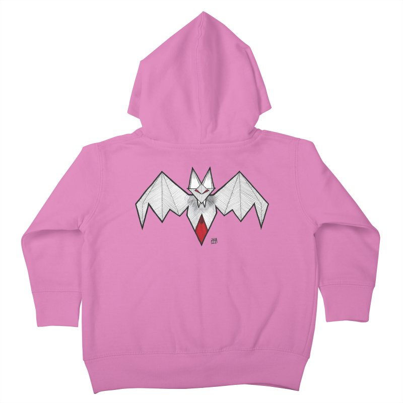 Angular Bat Kids Toddler Zip-Up Hoody by DEROSNEC's Art Shop