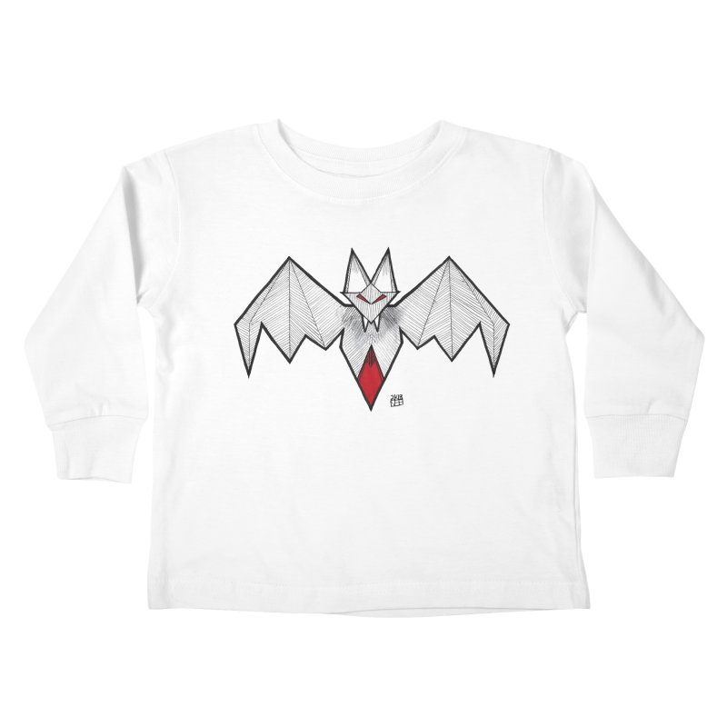 Angular Bat Kids Toddler Longsleeve T-Shirt by DEROSNEC's Art Shop
