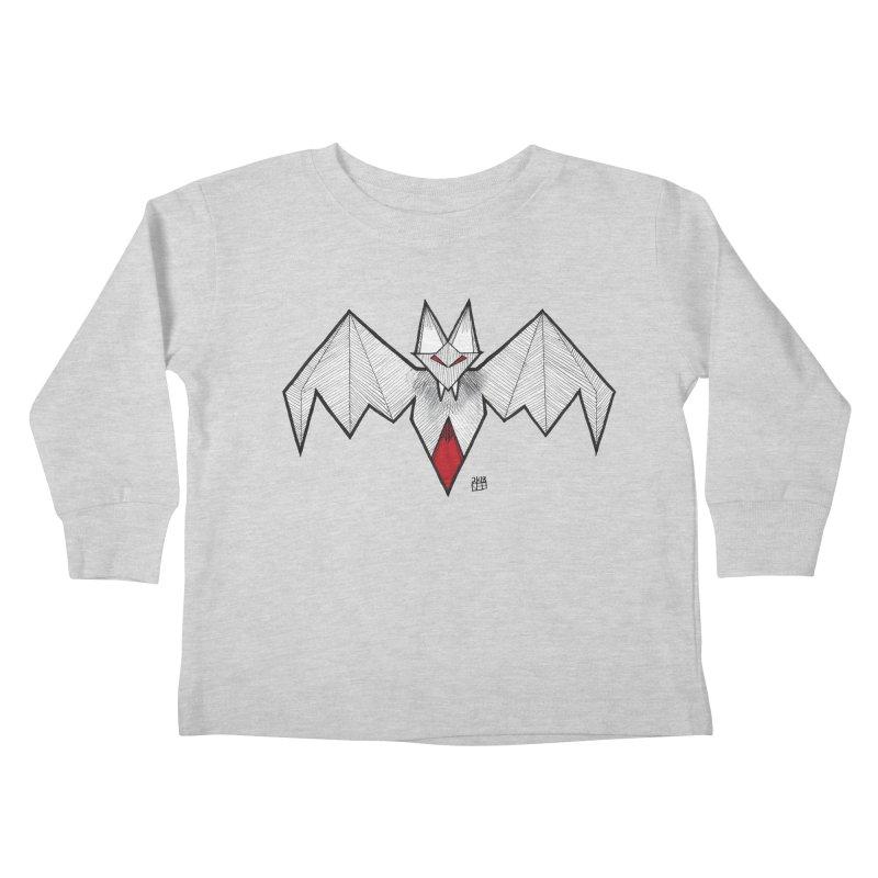 Angular Bat Kids Toddler Longsleeve T-Shirt by DEROSNEC's Art Shop