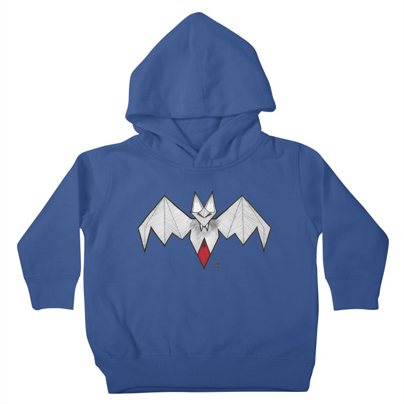 Angular Bat Kids Toddler Pullover Hoody by DEROSNEC's Art Shop