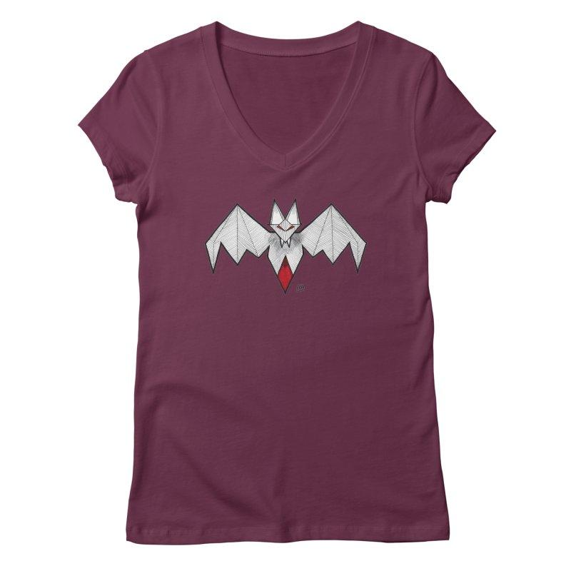 Angular Bat Women's Regular V-Neck by DEROSNEC's Art Shop