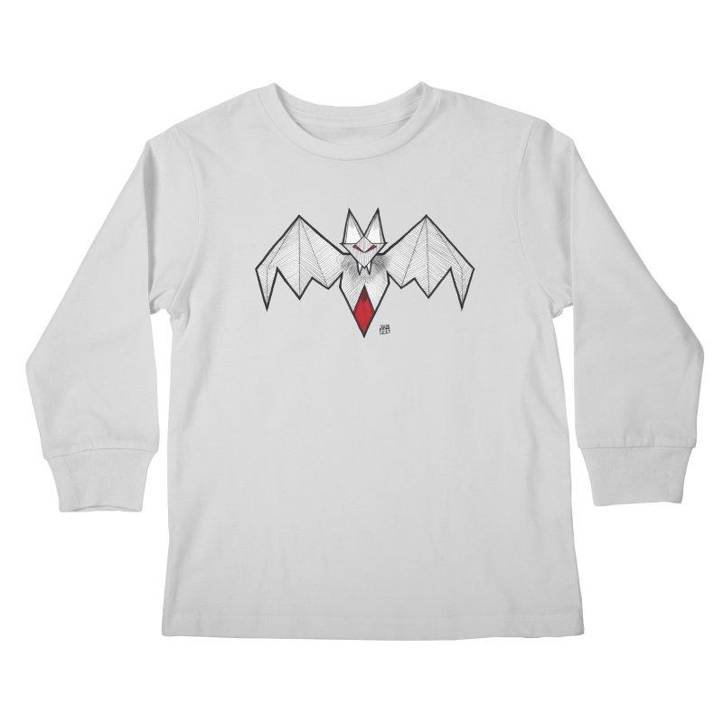 Angular Bat Kids Longsleeve T-Shirt by DEROSNEC's Art Shop