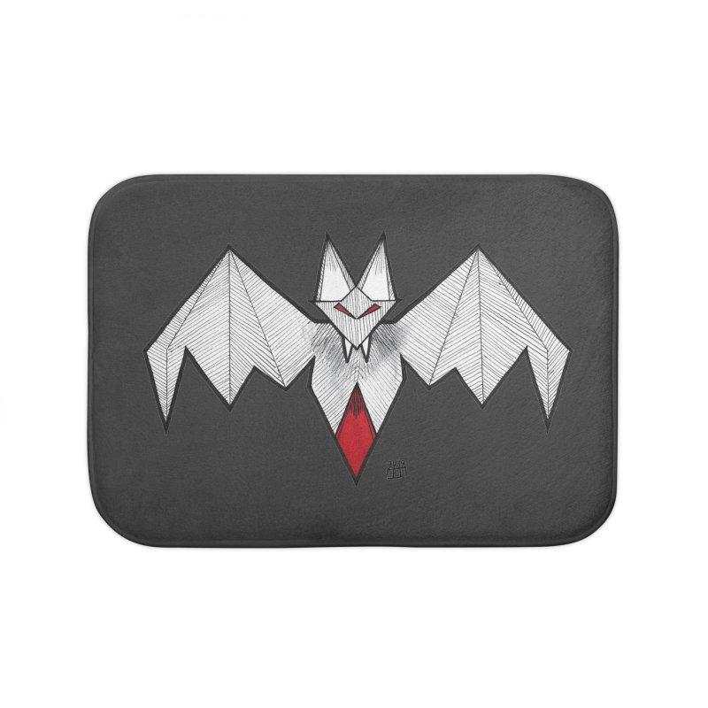 Angular Bat Home Bath Mat by DEROSNEC's Art Shop