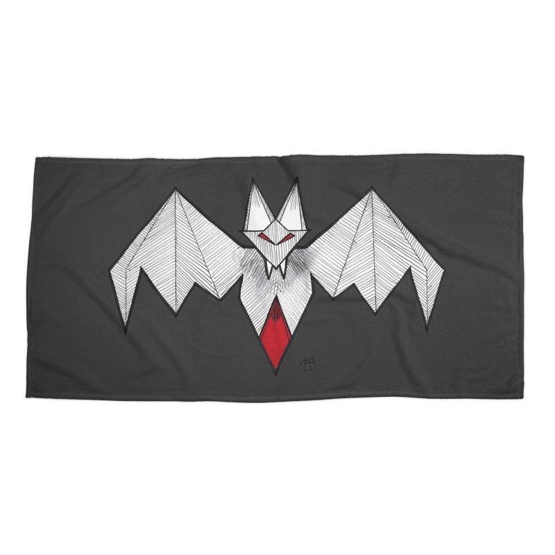 Angular Bat Accessories Beach Towel by DEROSNEC's Art Shop