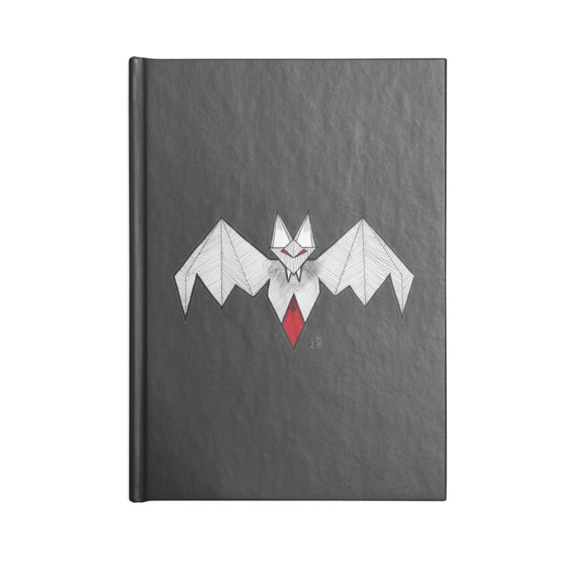 Angular Bat Accessories Blank Journal Notebook by DEROSNEC's Art Shop