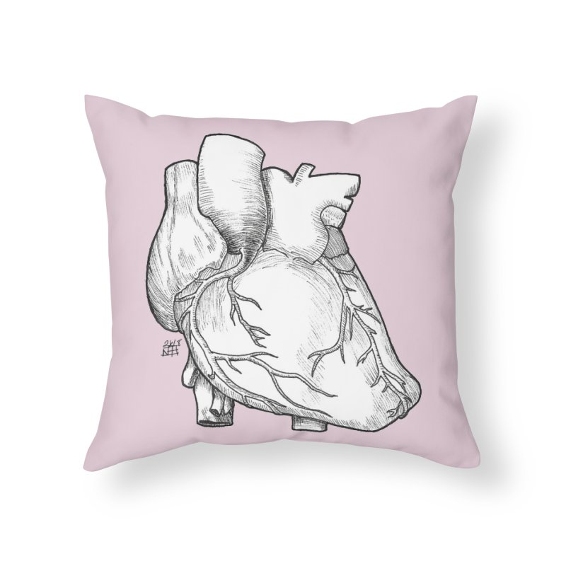 The Most Fragile Part of the Body Home Throw Pillow by DEROSNEC's Art Shop