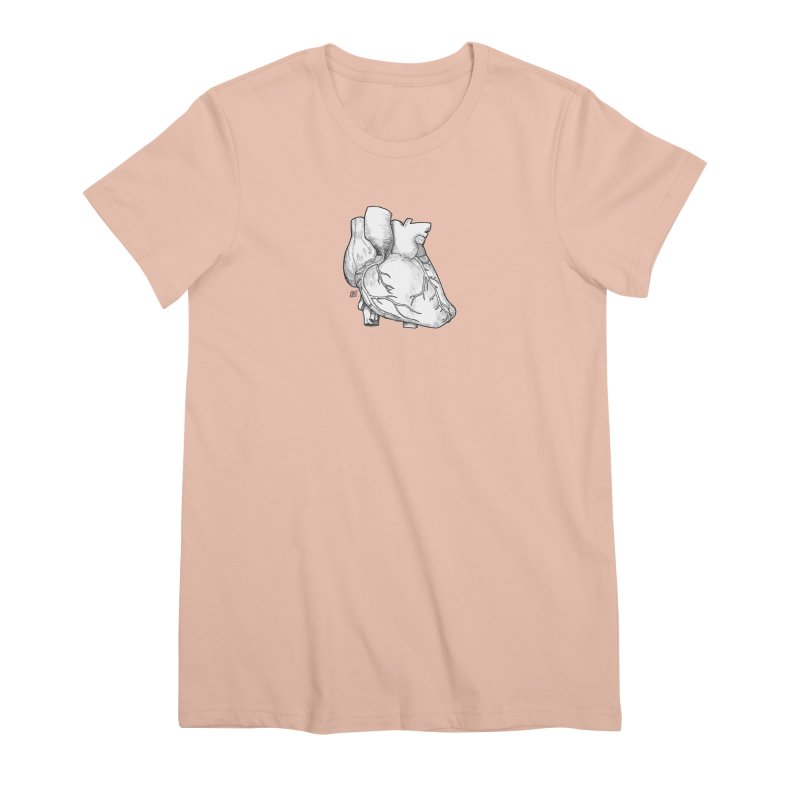 The Most Fragile Part of the Body Women's Premium T-Shirt by DEROSNEC's Art Shop