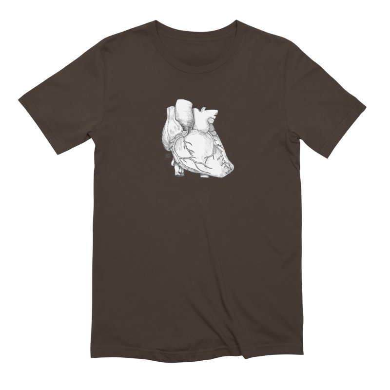 The Most Fragile Part of the Body Men's Extra Soft T-Shirt by DEROSNEC's Art Shop