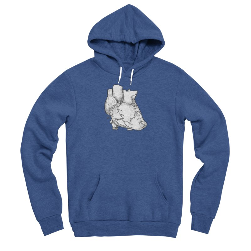 The Most Fragile Part of the Body Men's Sponge Fleece Pullover Hoody by DEROSNEC's Art Shop