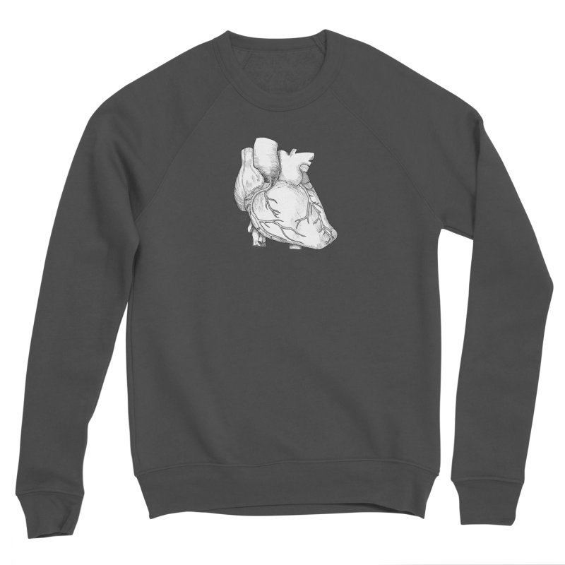 The Most Fragile Part of the Body Men's Sponge Fleece Sweatshirt by DEROSNEC's Art Shop