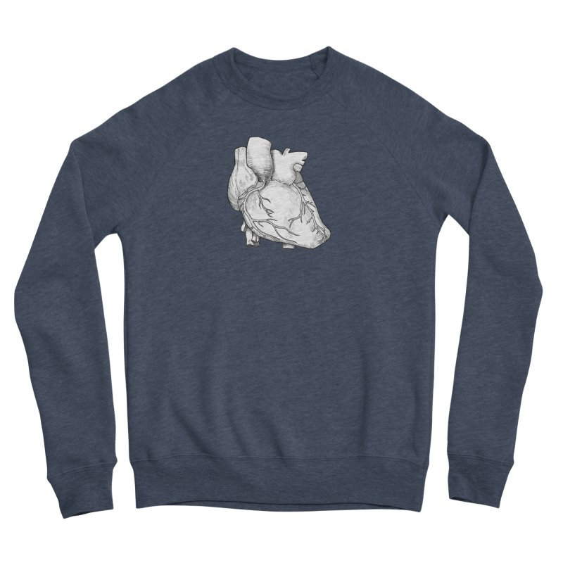 The Most Fragile Part of the Body Women's Sponge Fleece Sweatshirt by DEROSNEC's Art Shop