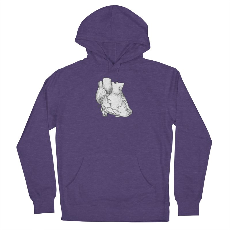 The Most Fragile Part of the Body Women's French Terry Pullover Hoody by DEROSNEC's Art Shop