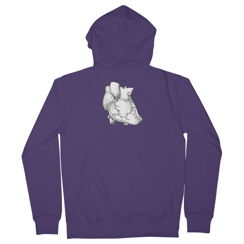 The Most Fragile Part of the Body Women's French Terry Zip-Up Hoody by DEROSNEC's Art Shop