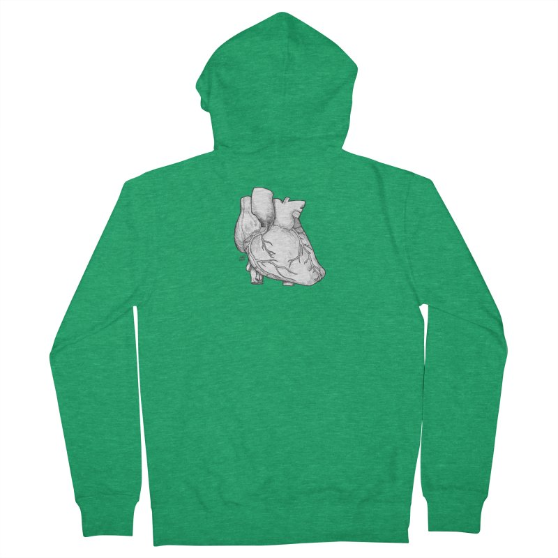 The Most Fragile Part of the Body Men's French Terry Zip-Up Hoody by DEROSNEC's Art Shop