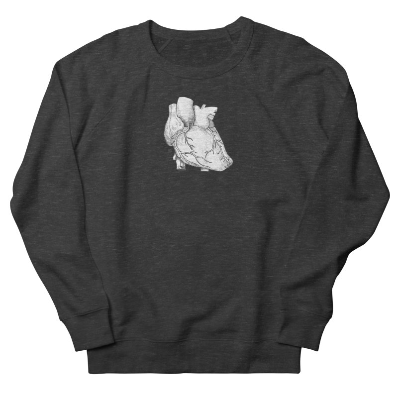 The Most Fragile Part of the Body Women's French Terry Sweatshirt by DEROSNEC's Art Shop