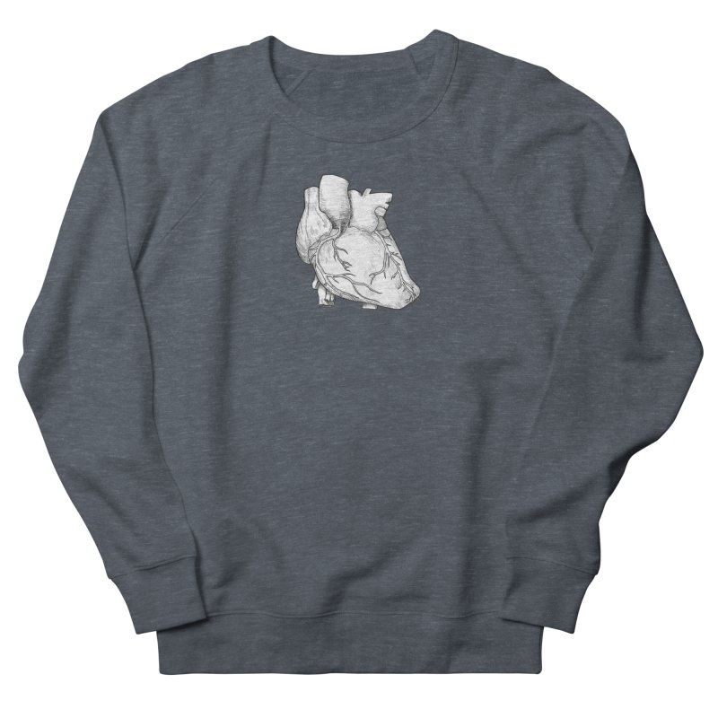 The Most Fragile Part of the Body Men's French Terry Sweatshirt by DEROSNEC's Art Shop