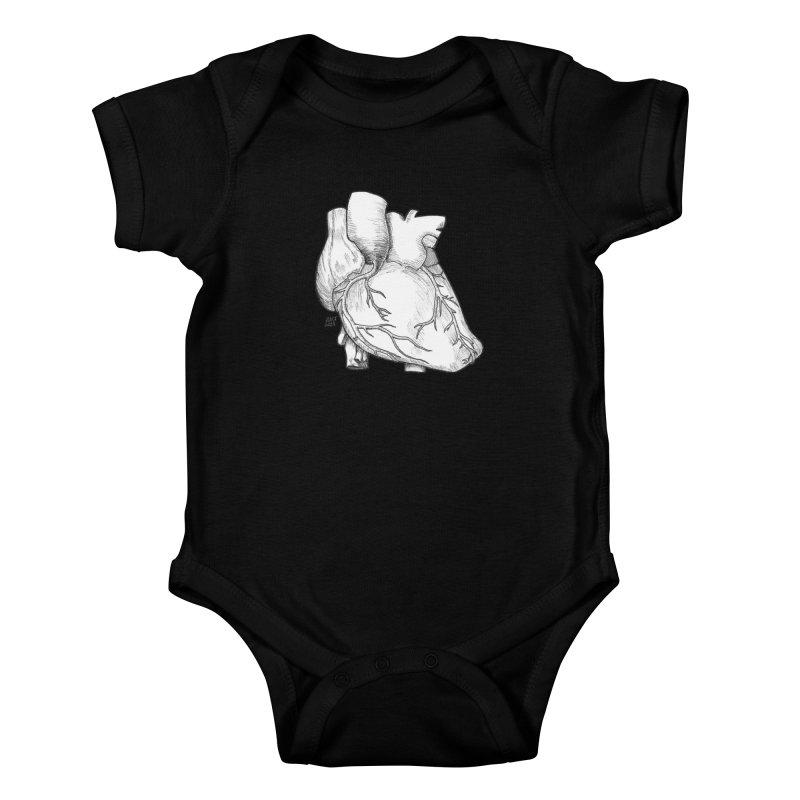 The Most Fragile Part of the Body Kids Baby Bodysuit by DEROSNEC's Art Shop