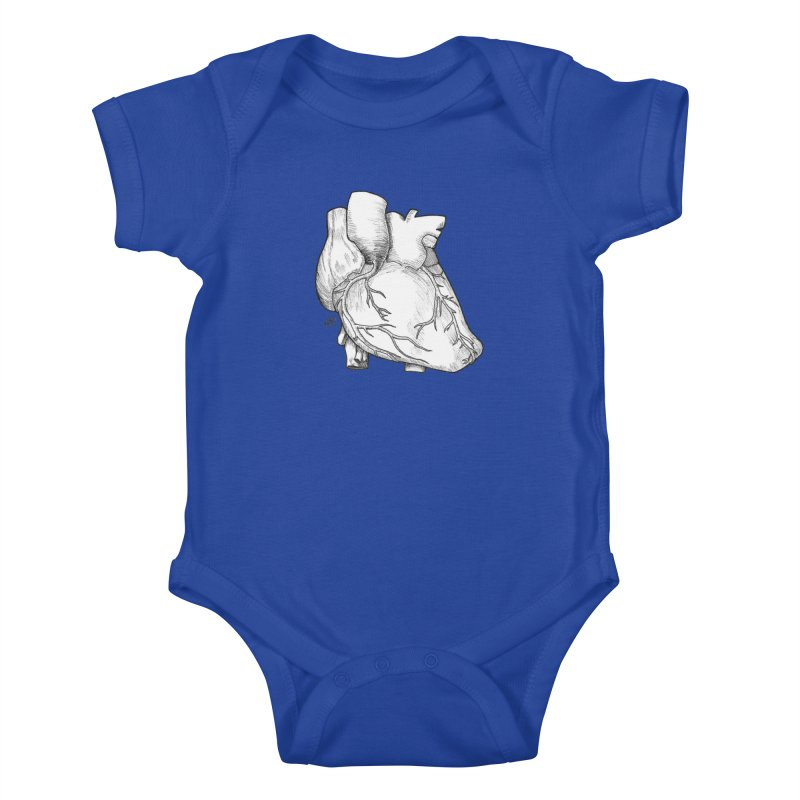 The Most Fragile Part of the Body Kids Baby Bodysuit by DEROSNEC's Art Shop