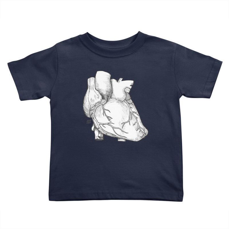 The Most Fragile Part of the Body Kids Toddler T-Shirt by DEROSNEC's Art Shop