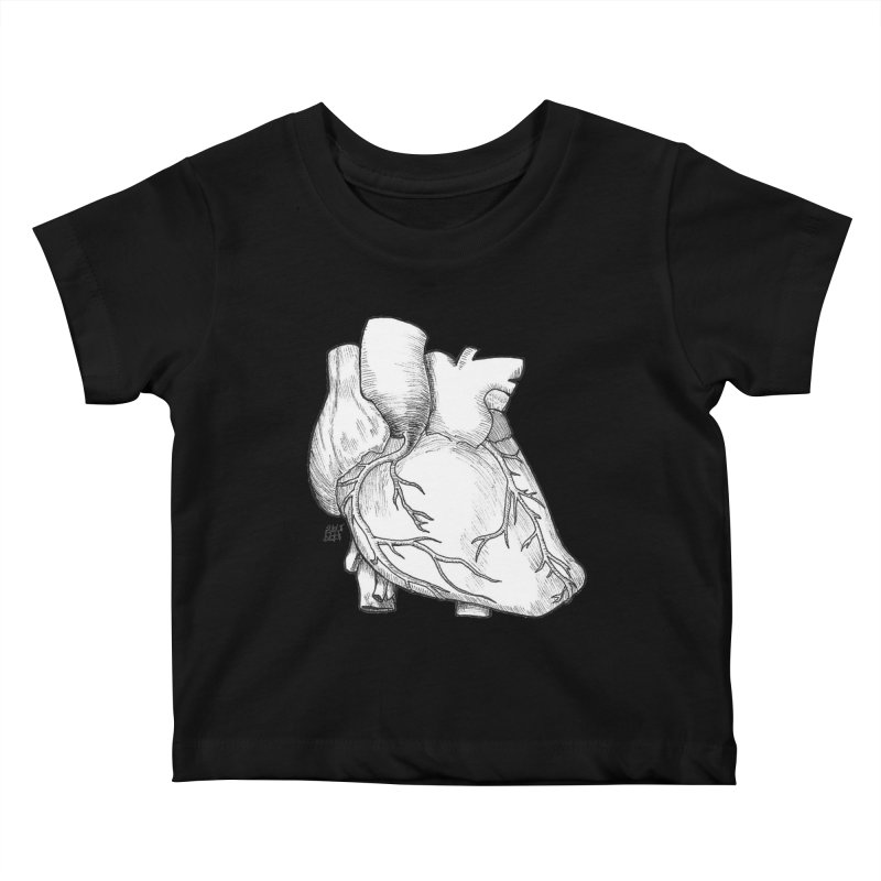 The Most Fragile Part of the Body Kids Baby T-Shirt by DEROSNEC's Art Shop