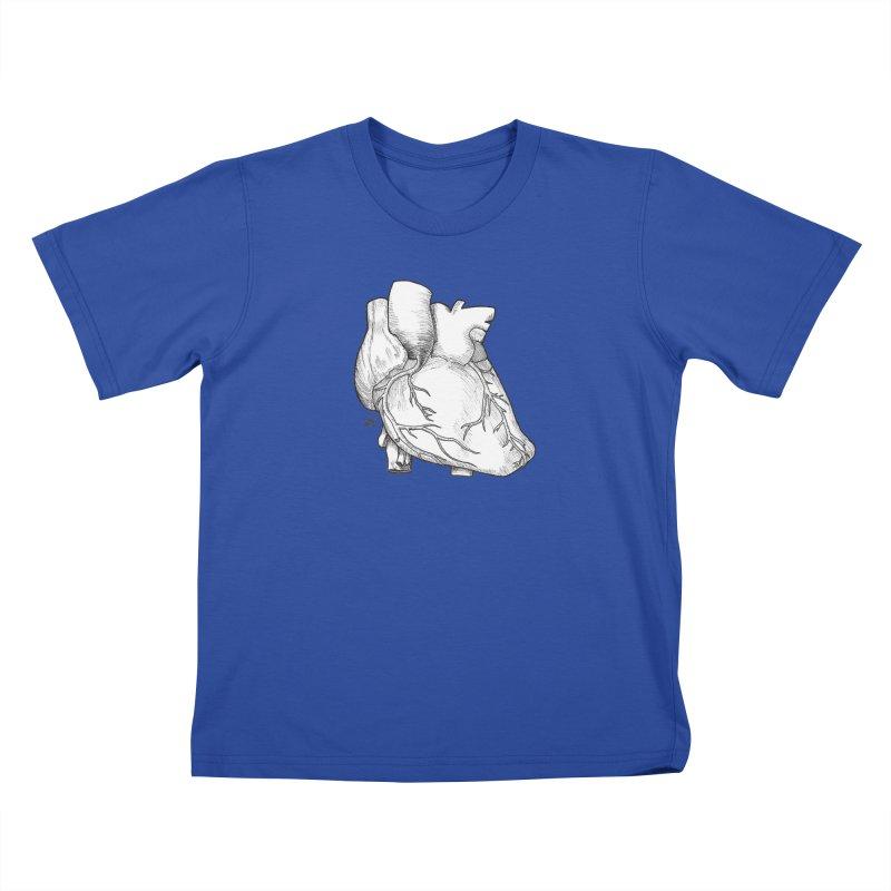 The Most Fragile Part of the Body Kids T-Shirt by DEROSNEC's Art Shop