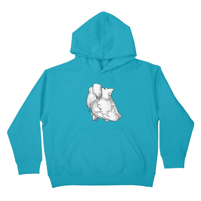 The Most Fragile Part of the Body Kids Pullover Hoody by DEROSNEC's Art Shop