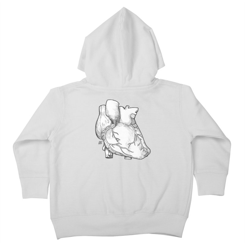 The Most Fragile Part of the Body Kids Toddler Zip-Up Hoody by DEROSNEC's Art Shop