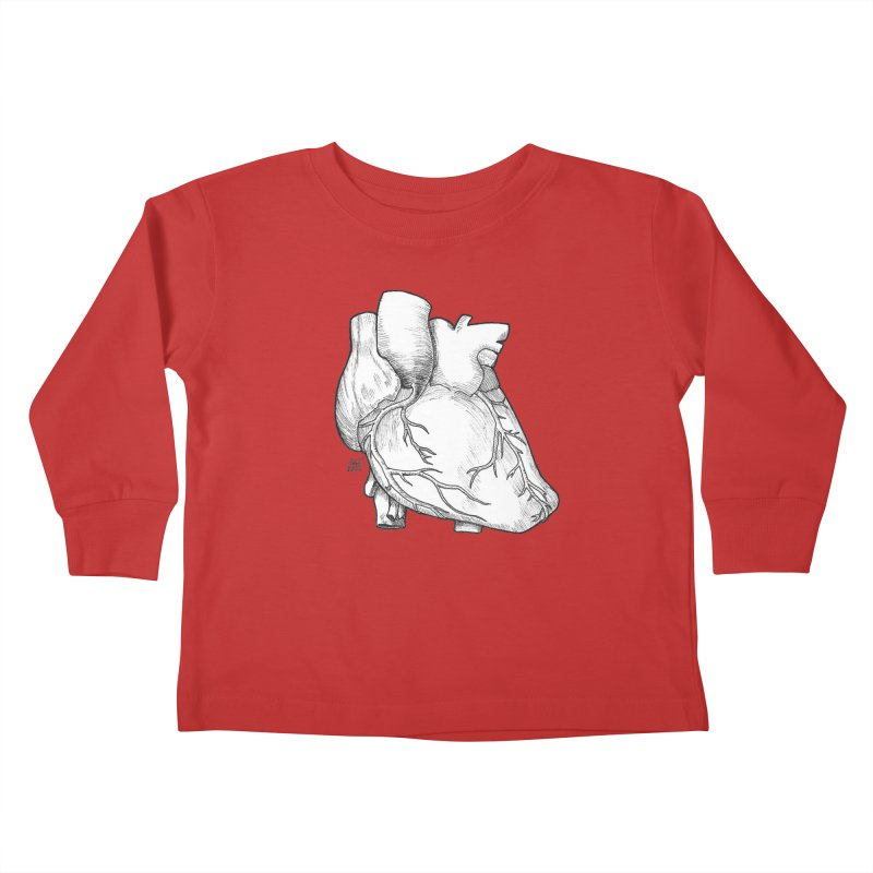The Most Fragile Part of the Body Kids Toddler Longsleeve T-Shirt by DEROSNEC's Art Shop