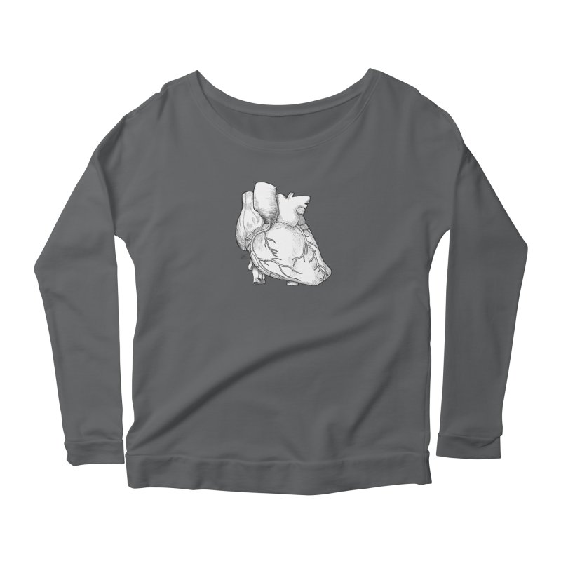 The Most Fragile Part of the Body Women's Scoop Neck Longsleeve T-Shirt by DEROSNEC's Art Shop