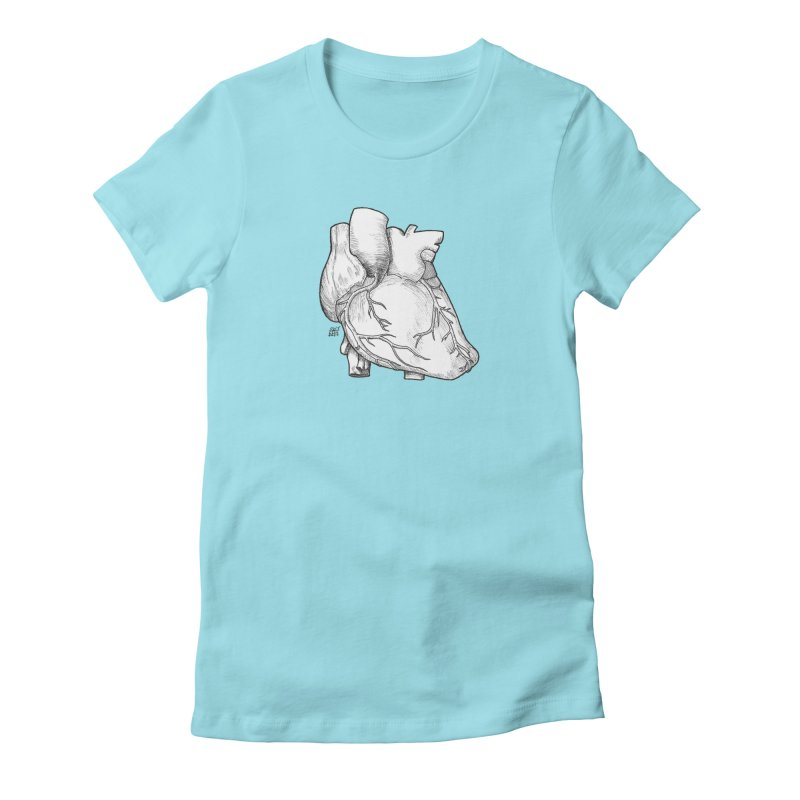 The Most Fragile Part of the Body Women's Fitted T-Shirt by DEROSNEC's Art Shop