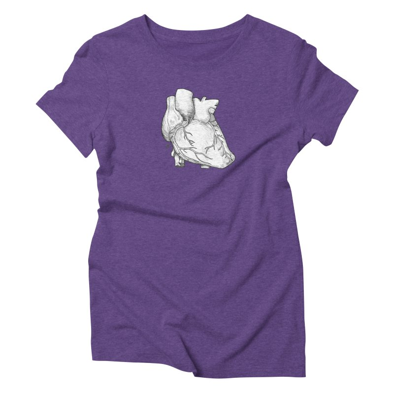 The Most Fragile Part of the Body Women's Triblend T-Shirt by DEROSNEC's Art Shop