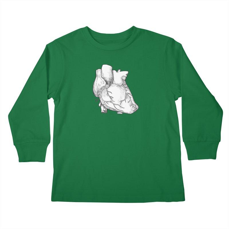 The Most Fragile Part of the Body Kids Longsleeve T-Shirt by DEROSNEC's Art Shop